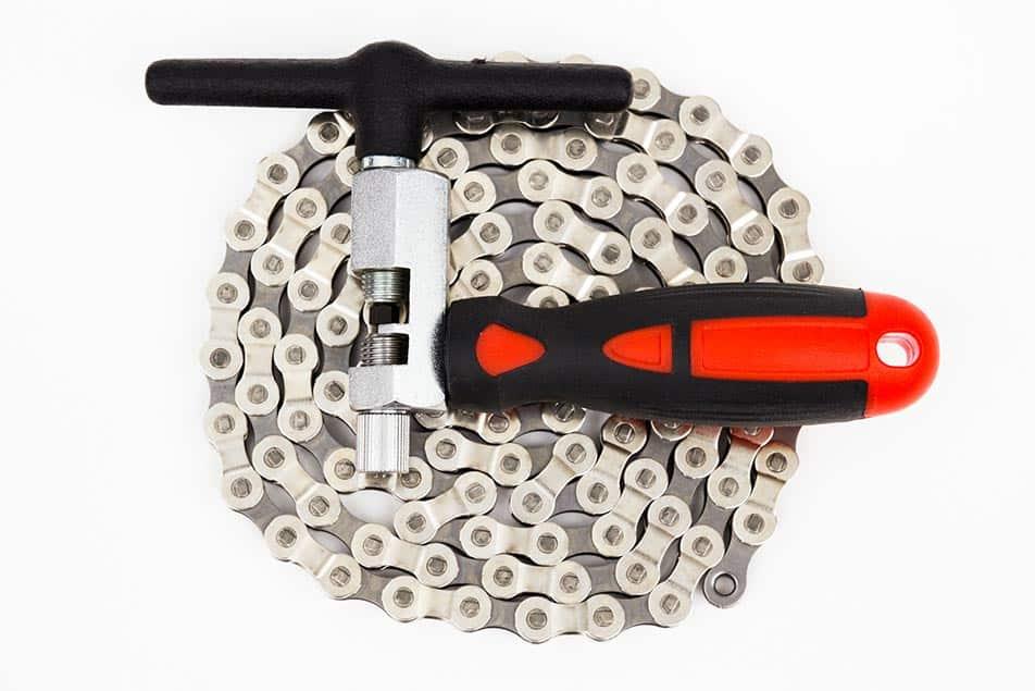 Questo è l'attrezzo per la catena bici