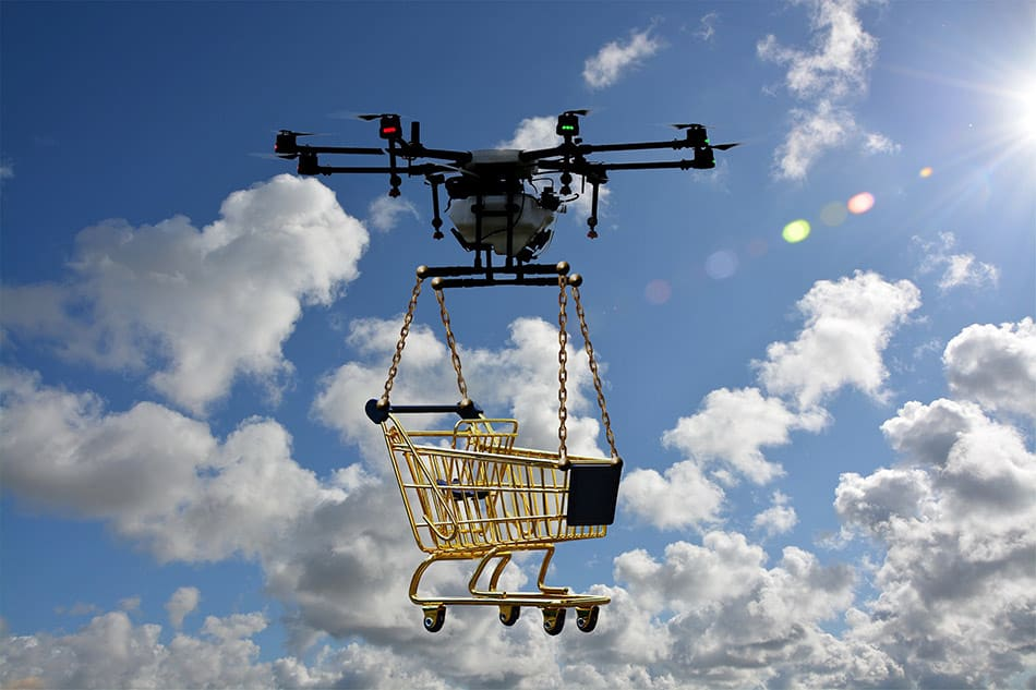 quanto solleva un drone
