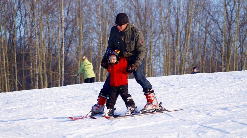 sciare con bimbi