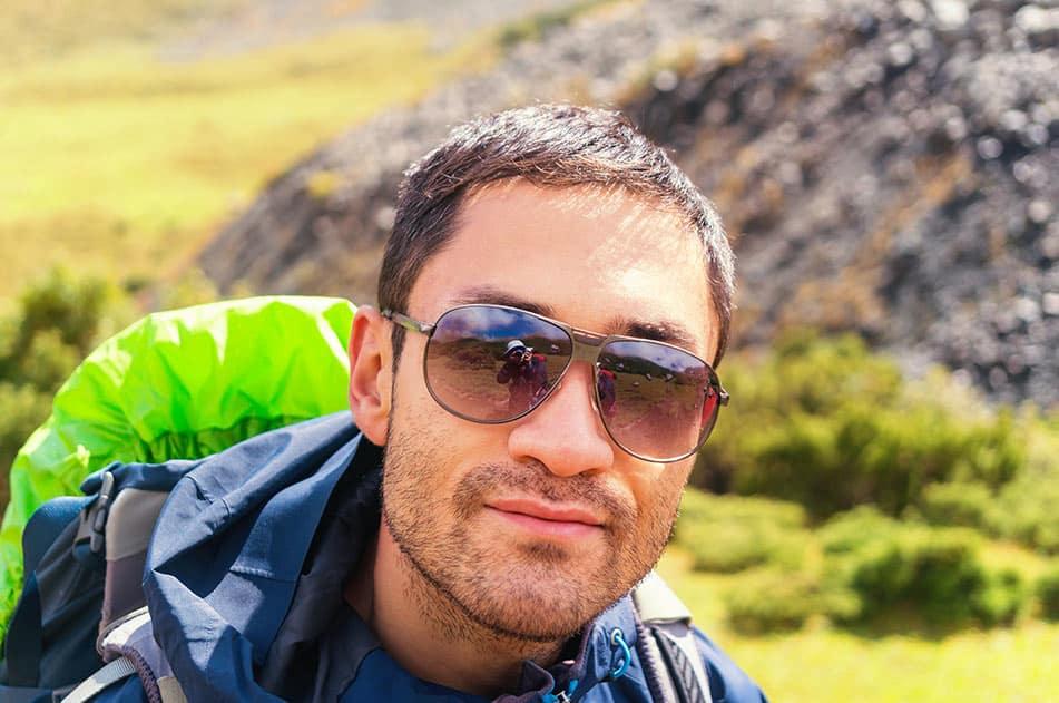 occhiali uomo escursionismo