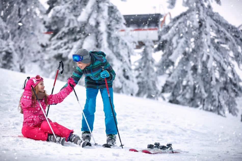 sciare in montagna